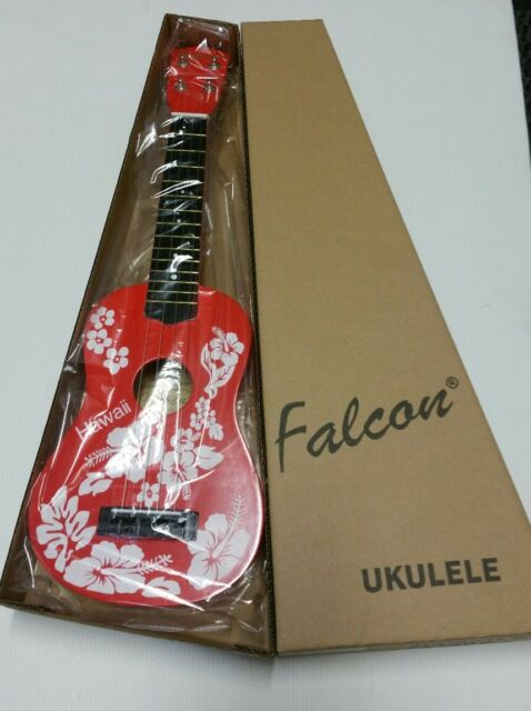 Falcon Ukulele – Red Hawaii Flower FL15RD