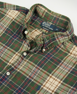 Ralph-Lauren-Tartan-Check-Shirt-Mens-Size-XL-Custom-Fit-Long-Sleeve-Cotton-Twill