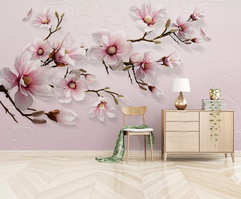 3D Pretty Petals Tree 5 Wall Paper Exclusive MXY Wallpaper Mural Decal Indoor AJ