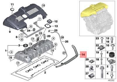 Crankcase Breather Hose For 2007-2013 BMW 328i xDrive 128i 528i X3 X5 Z4 3.0L N52 Engine