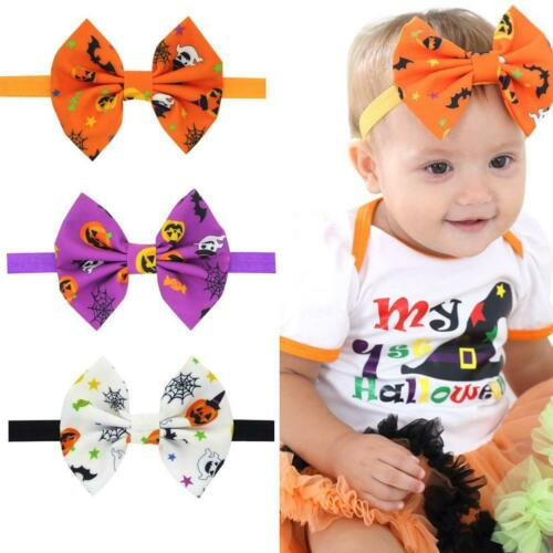 Kids Girls Baby Headband Toddler Bow Halloween Hair Band Headwear BEST