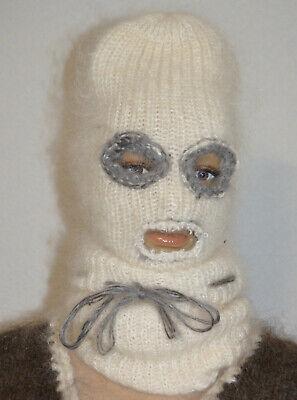 Hat Balaclava Sweater Mohair 100/% Goat Down Organic turtle neck Fetish