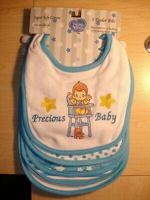 "Precious Moments Baby Boys/' /""Precious Baby/"" 5-Pack Bibs"