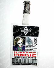 Batman Arkham Asylum The Joker ID Badge Cosplay Props Costume Novelty Comic Con
