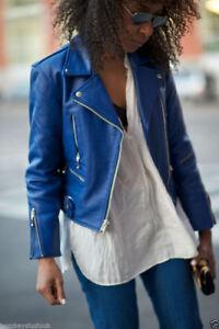 Motorcycle Jacket Lambskin Soft Women's Leather Wj1 New Biker Hot Genuine IwqY1I8a