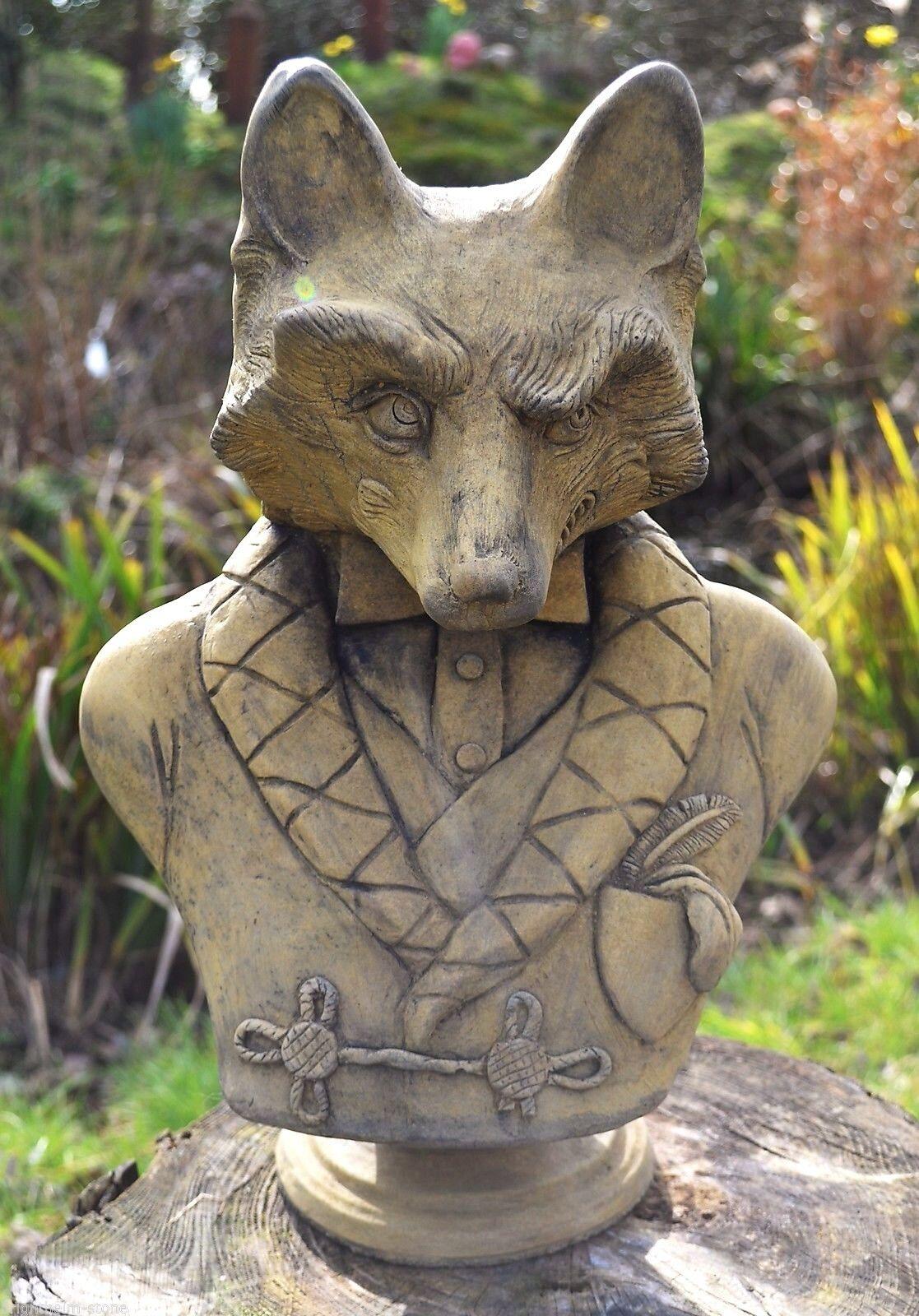 Fox Ornamento del jardín Busto Estatua Original Diseño Exclusivo Lord Reynard ©
