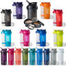 Blender Bottle ProStak System with 22 oz. Shaker and Twist N' Lock Storage