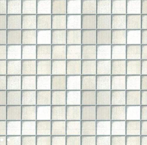 Klebefolie Möbelfolie Fliesen Look weiss Dekorfolie 45 cm x 200 cm selbstklebend