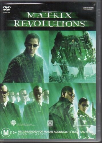 1 of 1 - MATRIX REVOLUTIONS - DVD R4 2-DISC SET Keanu Reeves - VG COND - FREE POST