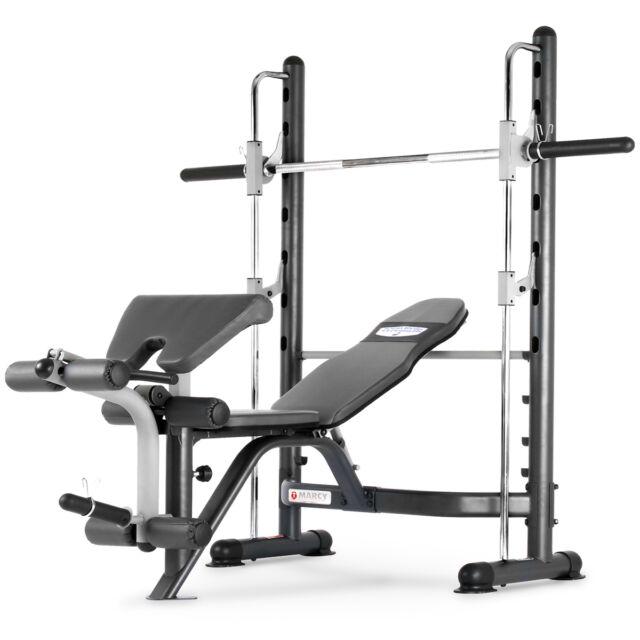 Marcy TSA-5762 Half Smith Machine Rack & Adjustable Workout Weight Bench Press