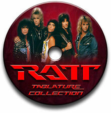 RATT GLAM METALL SCHWER ROCK GUITAR ETIKETTEN TABLATURE LIED BUCH SOFTWARE CD