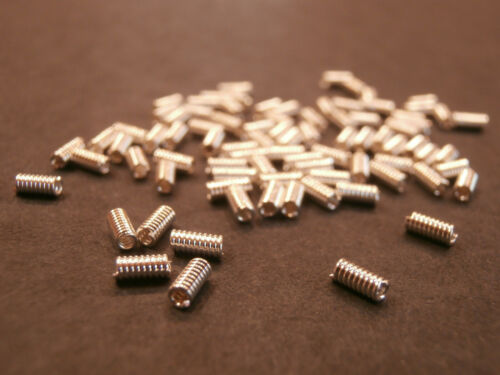 Metal Tube Spacer Beads 4x2mm Coil Wire look 100pcs SP Silver Plated