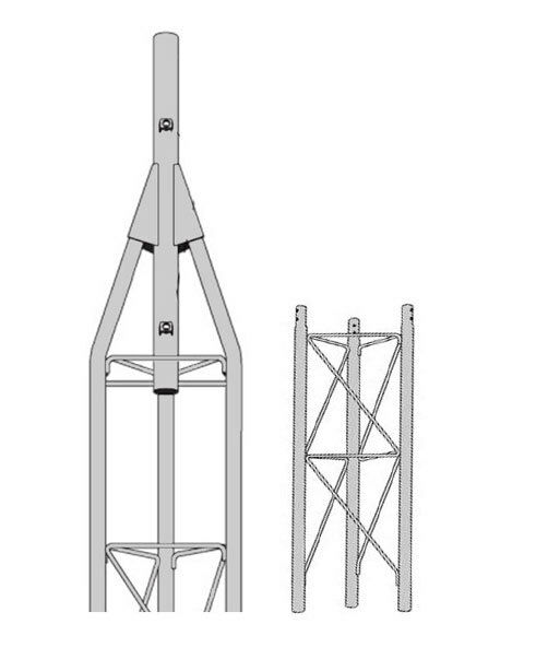 ROHN 45G Series 10' Self Supporting Tower Kit with 45AG Top Section with 2 Pipe. Available Now for 527.00