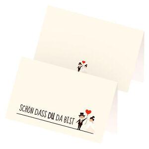 Details Zu Itenga 24x Tischkarte Platzkarte Hochzeit Motiv 24 Visitenkartengröße Ehe Paar