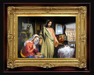 """Oil Painting PRINTED on Canvas Arseni ~ SAVIOR 24/"""" X 18/"""" Impressionism Art"""