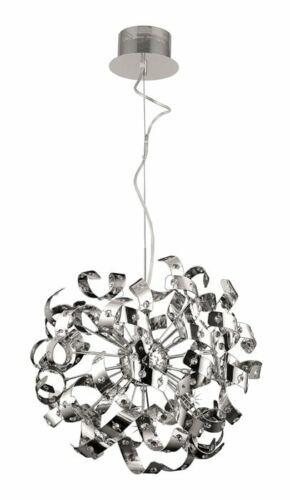 Lampenlux Design Pendelleuchte Yuki Hängeleuchte Blattlampe Chrom Verstellbar