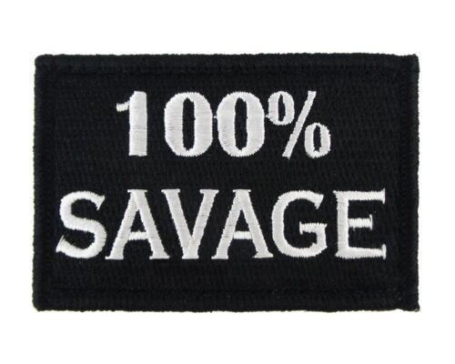 TACTICAL MORALE BADGE EMBRODIERY HOOK /& LOOP PATCH 100/% SAVAGE USA ARMY U.S 01