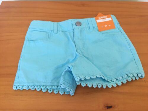Gymboree Toddler Girls Cotton Shorts Blue New 2T,3T,4T