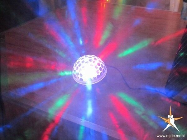 Party Disco, color Lights hire, music amp and speaker hire