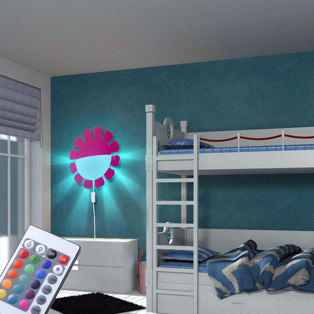 RGB LED bambini bambini bambini baby camera lampada da parete ragazze Vetro Lampada dimmerabile telecomando cb2466