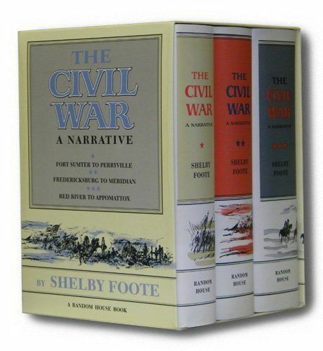 CIVIL WAR A NARRATIVE 3 VOLS IN SLIPCASE By Shelby Foote - Hardcover