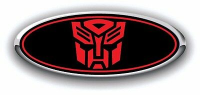 Ford Focus ST 2016 EURO ONLY Overlay Emblem Decal Punisher Black//Red 3Pc Kit