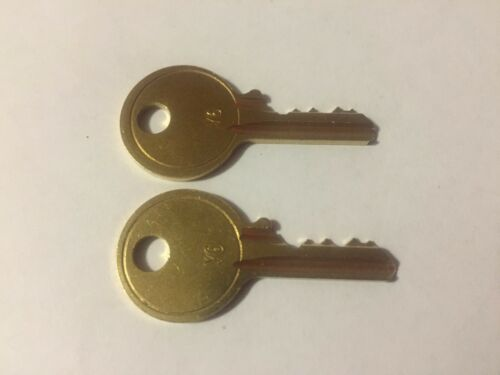 2 Art Steel-Art Metal File Cabinet Lock Keys A801-A850 Office Furniture ASCO Key