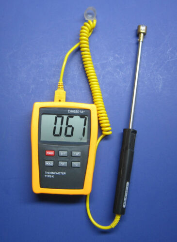 Digital K-type Thermometer w Surface Thermocouple Welding and Metalworking SF-2