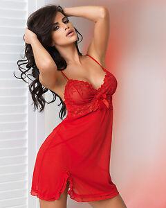 nuisette femme rouge