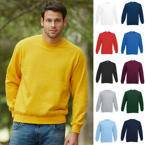 Details zu Fruit of the loom Sweatshirt Set In Herren Pullover Pulli Classic Sweat 8020