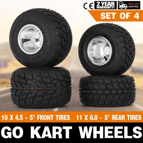 Go Kart Wheels Go Kart Rain Tires Set of 4 Front and Rear Drift Thrike Buggy
