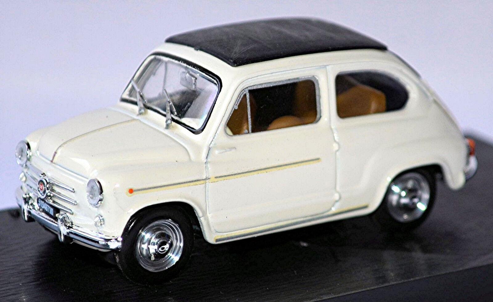 primera vez respuesta Fiat 600 600 600 D Berlina Canopy Abierto 1960 Bianco 207 blancoo blancoo 1 43 Brumm  precios al por mayor