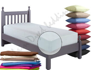 FITTED SHEET in Single, Double, King Size, Pillowcases In 22 Colours