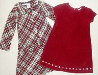 Girls 4 6 Red White Black Plaid Winter Boucle Dress Coat Set Holiday