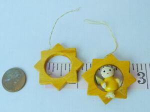 Jewish Angel Miniature Star of David Ornament Wooden Hanukkah + 1 Star of David