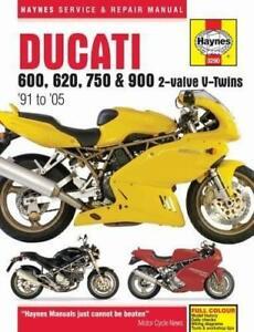Haynes-DUCATI-600-620-750-900-SS-M-SL-1991-2005-Owners-Workshop-Manual-Handbook