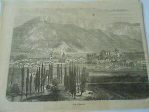 Gravure 1865 - Vue D'annecy En Savoie MatéRiaux De Qualité SupéRieure