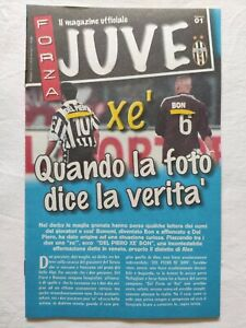 FORZA JUVE N. 1 12/1999 MAGAZINE UFFICIALE JUVENTUS ALESSANDRO DEL PIERO
