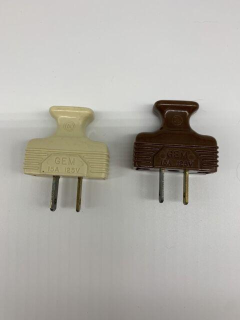 Lot Of 2 Gem 2 Prong Polarized Plugs