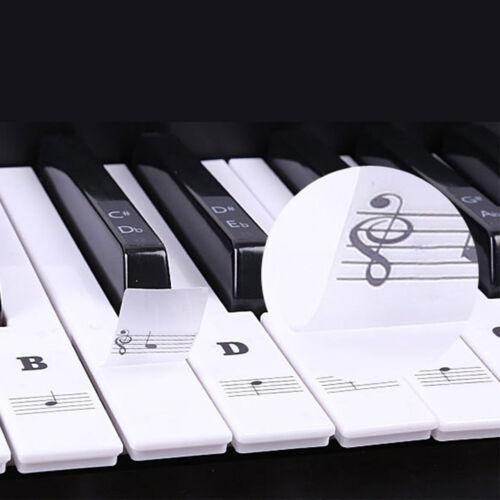 Musik Keyboard Klavier Laminiert Sticker für 88//61//54//49 Schlüssel