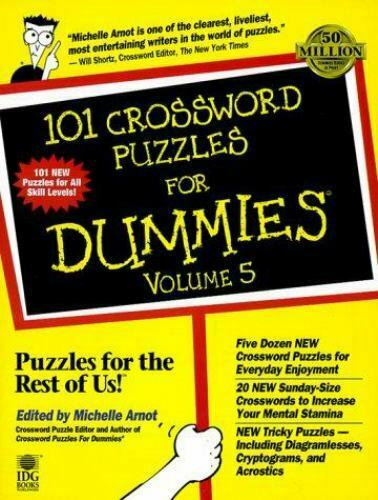 Crossword Puzzles for Dummies by Michelle Arnot