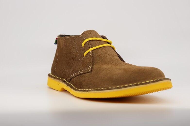 Veldskoen Boots Yellow Sole & Yellow Laces