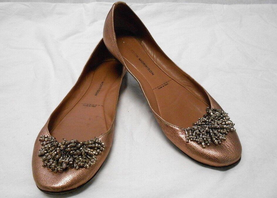 SIEGERSON MORRISON Bronze metallic ballet flats shoes w tassels 6.5 6.5 6.5 SO CUTE 6f83e4