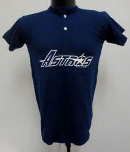 size 40 261d0 7d0b8 Details about HOUSTON ASTROS YOUTH LARGE SHIRT VINTAGE RETRO VTG MLB  BASEBALL 2 BUTTON NAVY