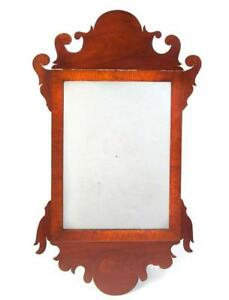 LATE CHIPPENDALE SCROLL MIRROR Lot 214