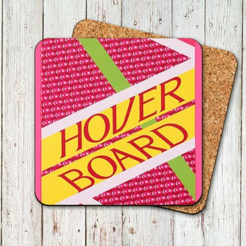 Back to the Future Hoverboard Coaster-liège soutenu