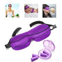 Comfortable Sleep Mask 2 Pairs Soft Foam Ear Plugs Sleeping Aids Health Care