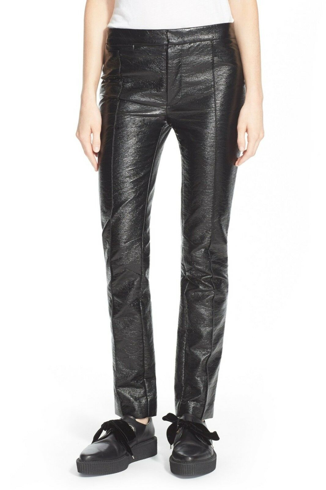 NEW  Marc by Marc Jacobs Coated Crinkle Crop Pants (2)