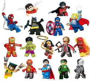 Super Hero Green Lantern Flash Superman Iron Man Hulk Mini Figures Free Gift Bag