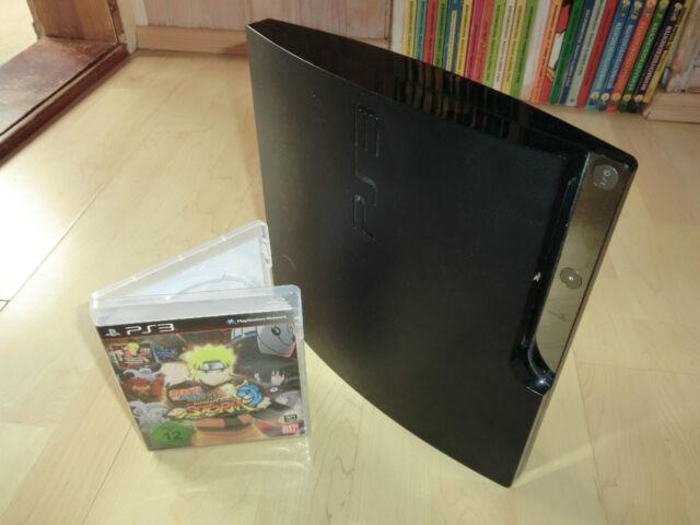 Sony PlayStation 3 ps3 slim 160gb, unidad defectuosa, incl. Naruto Ninja Storm 3